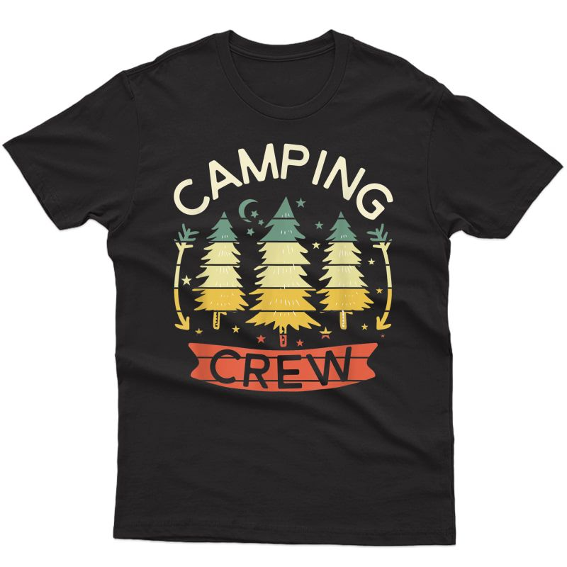 2021 Family Camping Trip Camper Matching Group Camping Crew T-shirt