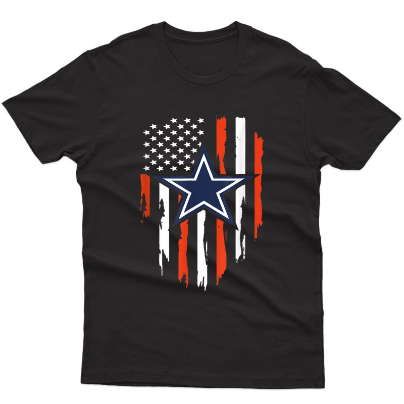 4th Of July Cowboy Flag Football Dallas Fans Tshirt Gift