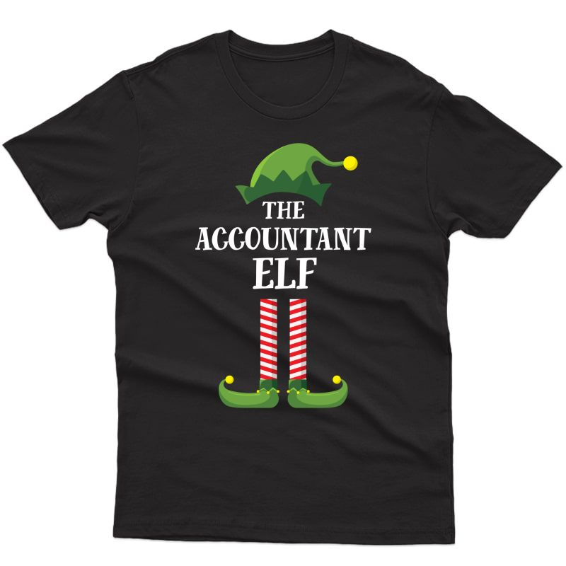 Accountant Elf Matching Family Group Christmas Party Pajama