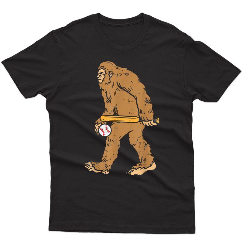 Sasquatch Baseball Funny Coach Player Team T-shirt