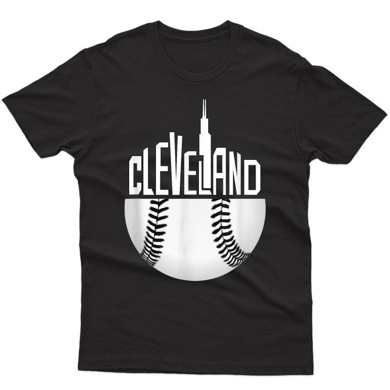 Cleveland Hometown Indian Tribe Vintage For Baseball Fans T-shirt