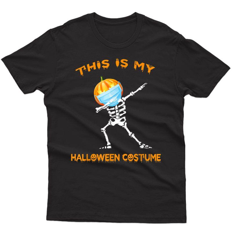 Dabbing Skeleton Pumpkin Halloween Costume T-shirt