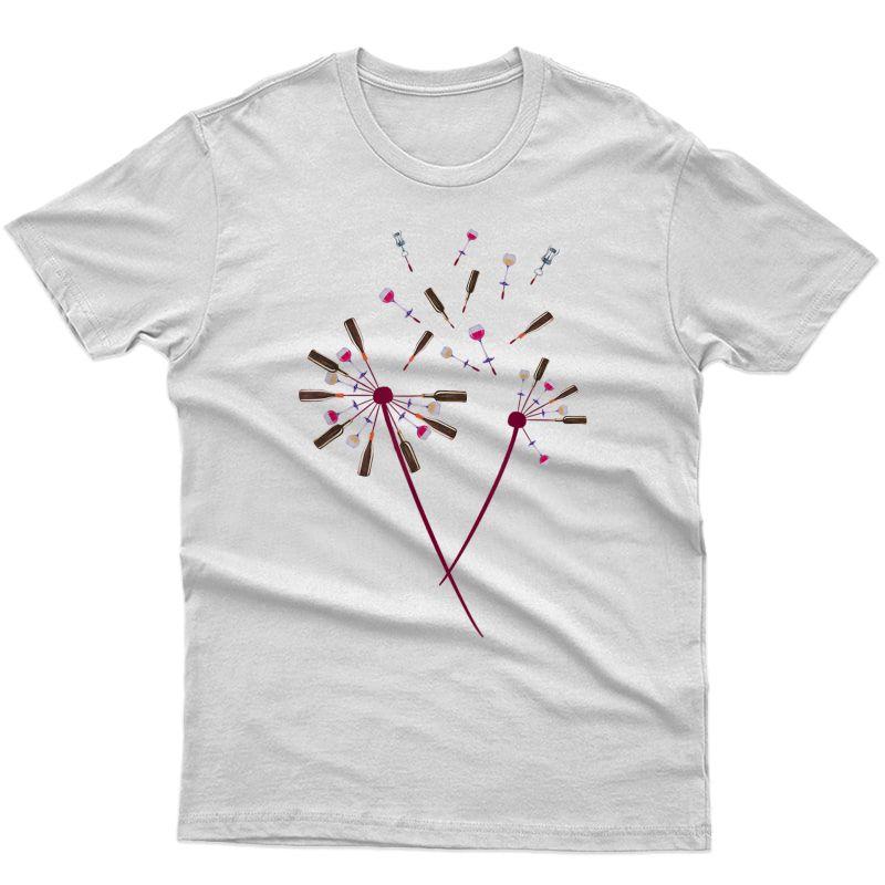 Dandelion Wine Art Graphic / Cute Wine Lover Flower Design T-shirt