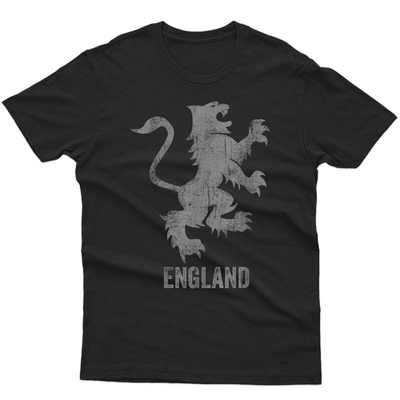 England Flag Heraldry Lion English Football Soccer Patriotic T-shirt