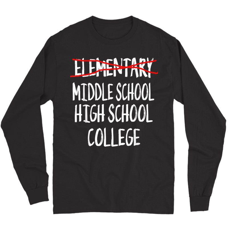Funny Eletary Graduation Gift-2021 6th Grade Graduation T-shirt Long Sleeve T-shirt
