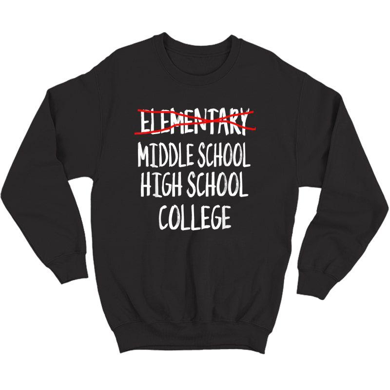 Funny Eletary Graduation Gift-2021 6th Grade Graduation T-shirt Crewneck Sweater