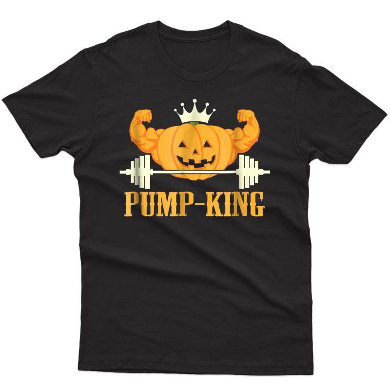 Funny Halloween Pumpkin Weightlifting Workout Gym T Shirt