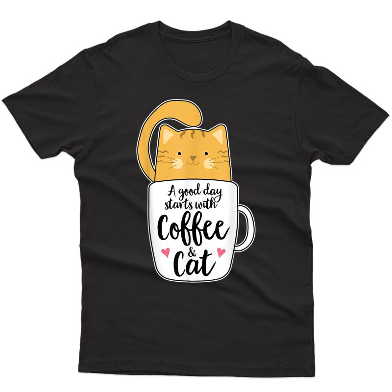 Funny Orange Cat Coffee Mug Tshirt Cat Lover Gifts T-shirt
