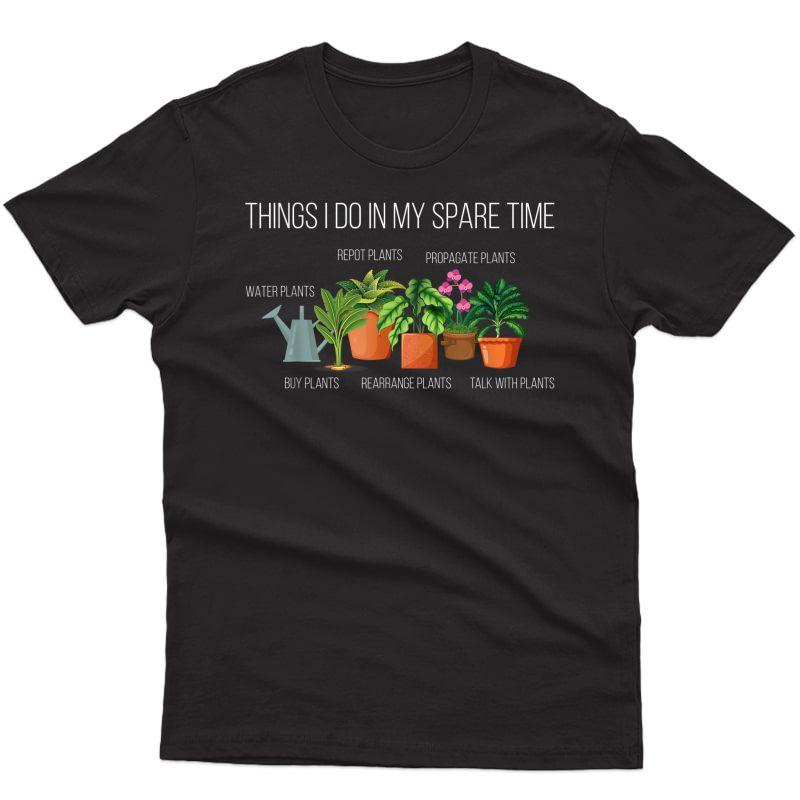 Gardening Indoor Plants Flower Leaf Horticulture Botanical T-shirt
