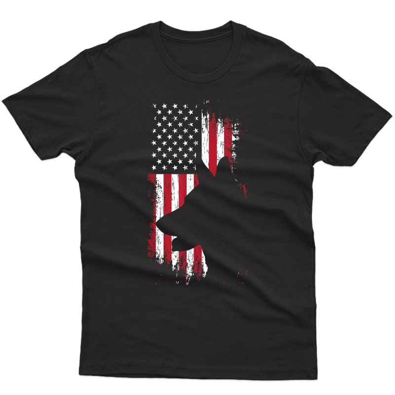 German Shepherd American Flag Shirt Usa Patriotic Dog Gift T-shirt