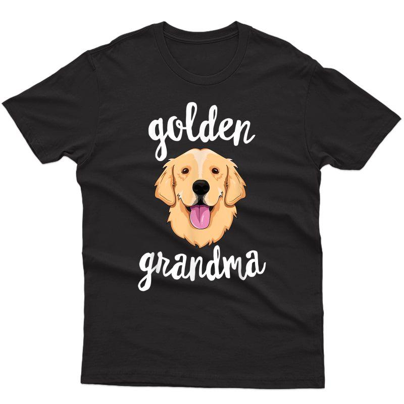 Golden Retriever Grandma T-shirt Mom Dog Owner T-shirt