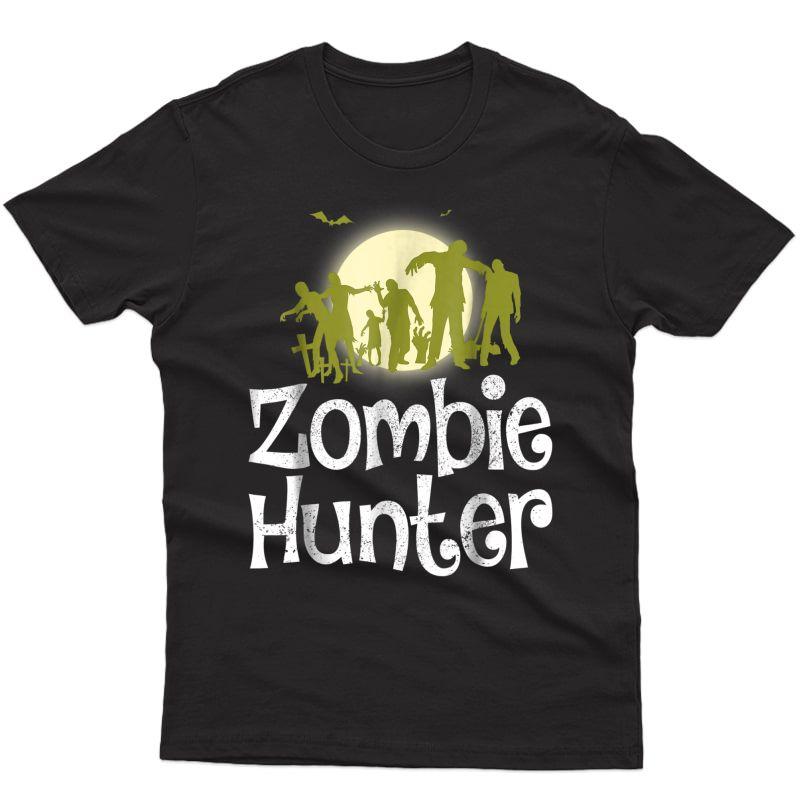 Halloween Zombie Hunter Bat T Shirt Funny Gift