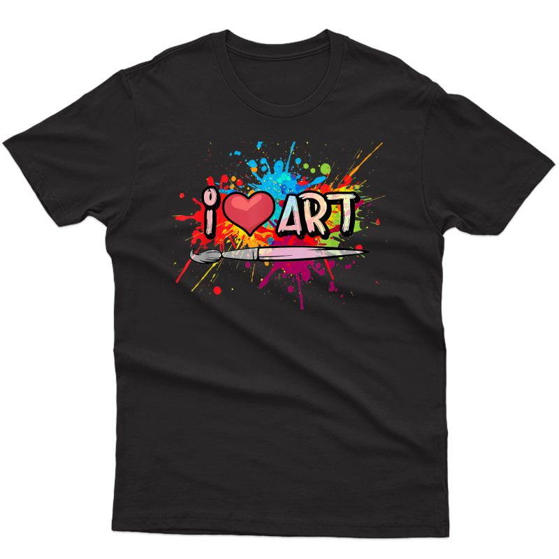 I Love Art Fun Colorful Future Artist And Crafts Christmas T-shirt