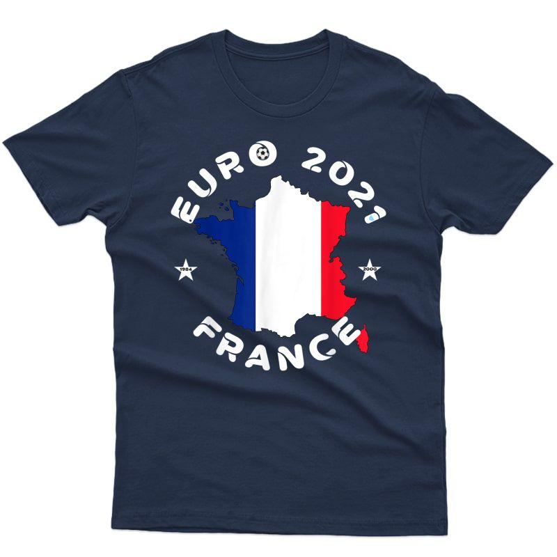 Euro 2021 France Border Country Football Flag T-shirt
