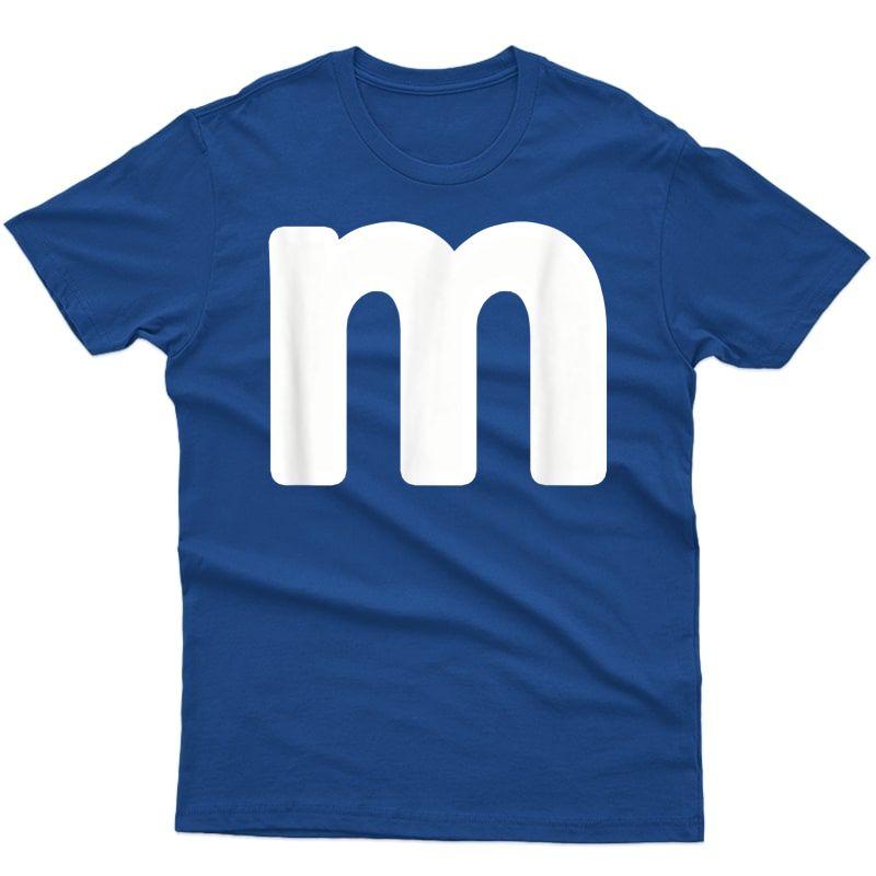 Letter M Shirt Lower Case Alphabet Matching Halloween Tee