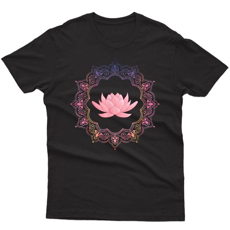 Lotus Mandala Circle | Spiritual Yoga T Shirt