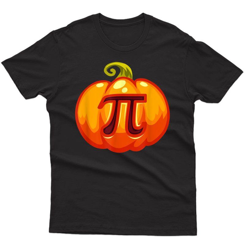 Math Tea Halloween Costume Pumpkin Pi Pun Pie Gift . T-shirt
