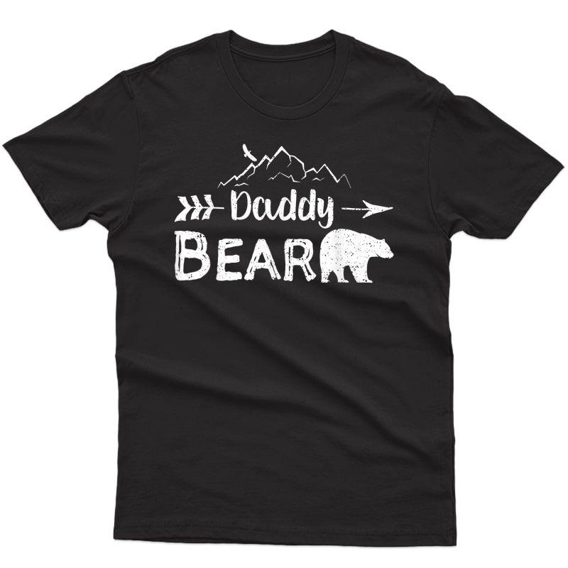 S Daddy Bear Shirt Matching Family Mama Papa Bear Camping Gift