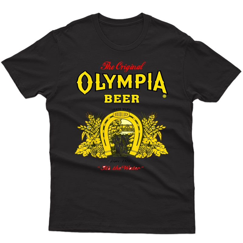 Olympias Beer Printed Retro Essential For T-shirt