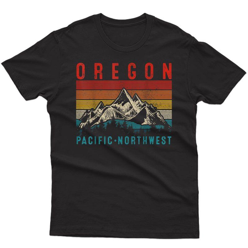Oregon Vintage Mountains Hiking Pacific Northwest Pnw Gift T-shirt