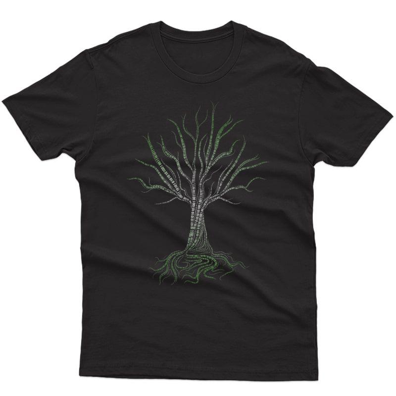 Original Binary Tree Computer Coding Programmer T-shirt