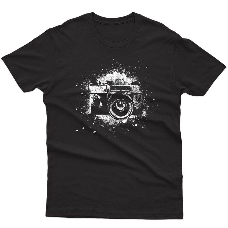 Photographer T-shirt Camera Photography Retro Journalist Tee