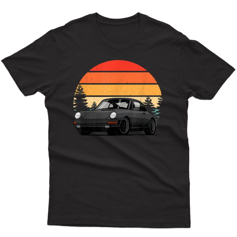 Retro Sun W Tuning & Gaming Oldtimer Car Enthusiast Sunset T-shirt