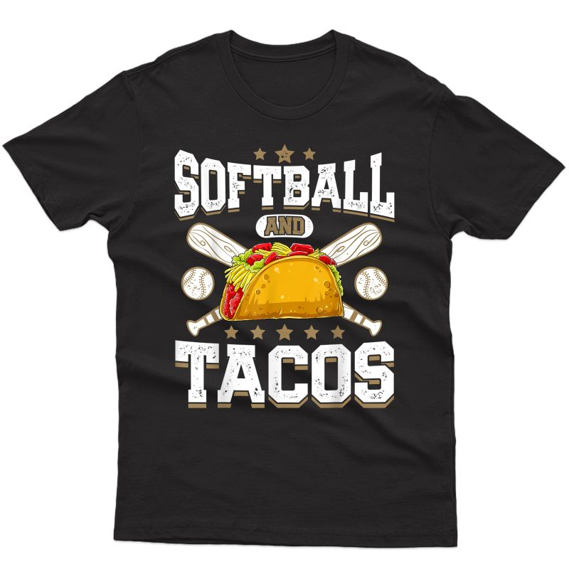 Softball And Tacos T Shirt Girls Gifts Cat Pit T-shirt