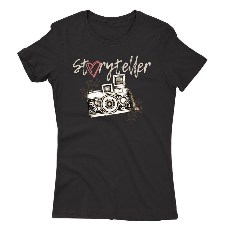 Storyteller Camera Photography Photographer Cool T-shirt