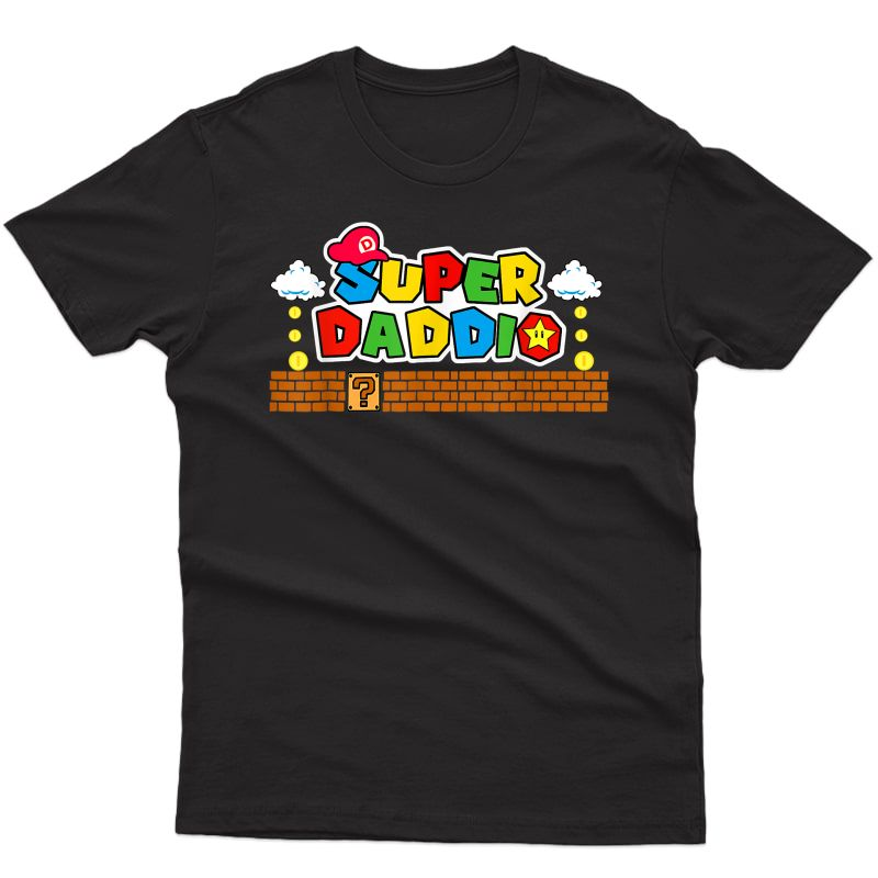 Super-daddio Funny Dad, Daddy, Fathers Day Video Game Lover T-shirt