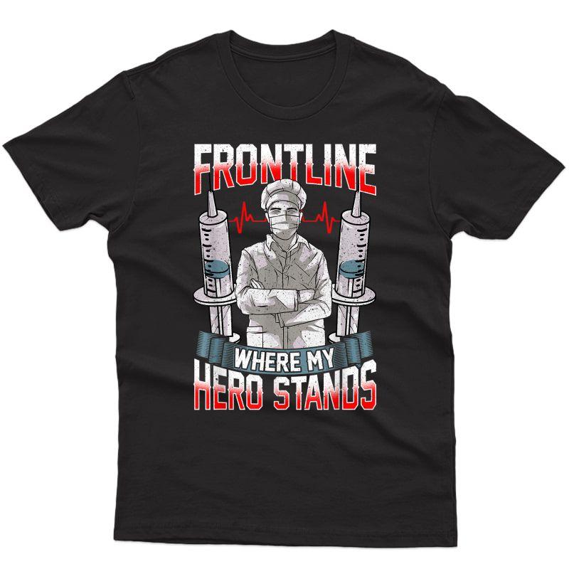 Supporter Of Frontliner Doctor Nurse Emt T-shirt