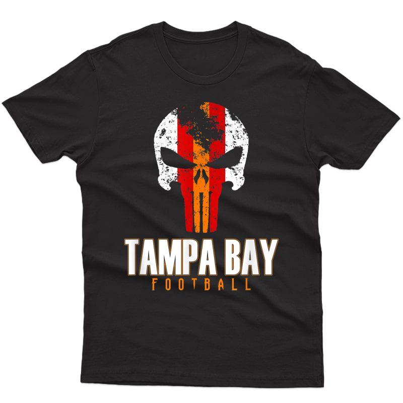 Tampa Bay Varsity Style Retro Football Skull T-shirt