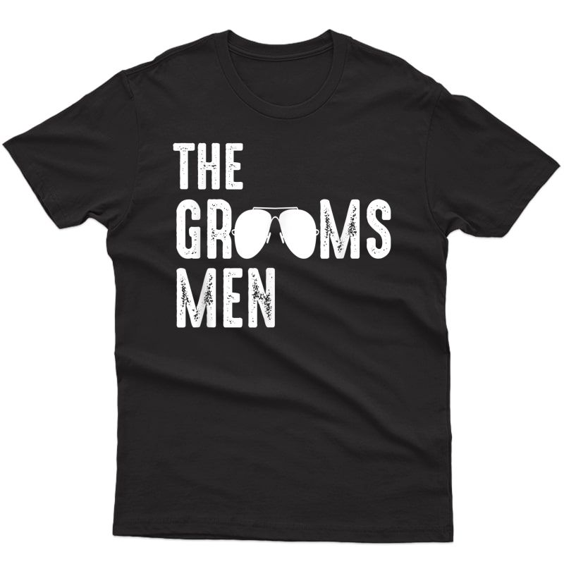 The Grooms Cool Shades Funny Bachelor Party Gift T-shirt