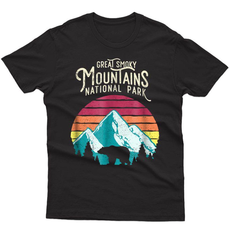 Vintage Great Smoky Mountains National Park Bear T Shirt