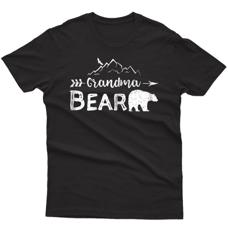 Grandma Bear Shirt Matching Family Grandparents Camping Gift