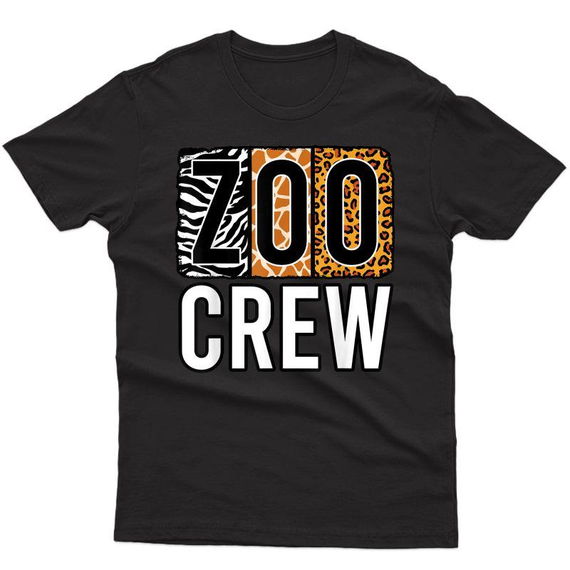 Zoo Crew Zookeeper Costume Safari Wildlife Animal Park T-shirt
